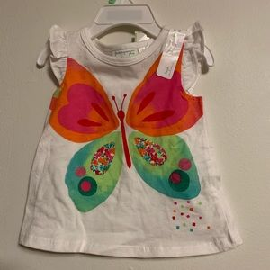 First Impressions white baby girl top, 3-6 months